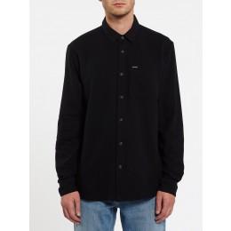 Volcom Caden solid black 2022 camisa