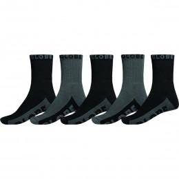 Globe black grey crew 5 pack 2020 calcetines
