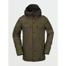 Volcom Creedle2stone black military 2021 chaqueta de snowboard