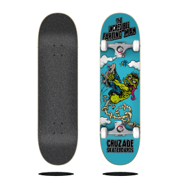 Cruzade The Incredible Farting Man 8.125″ Skateboard completo