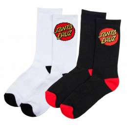 Santa Cruz Classic dot 2 pack calcetines