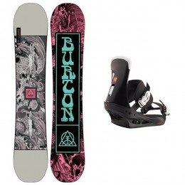 Burton descendant wide+ Burton Freestyle 2021 Pack de Snowboard