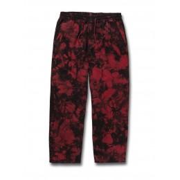 Volcom Strange times deep red 2021 pantalones chandal
