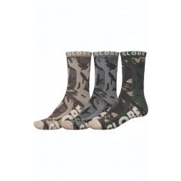 Globe Eco Camo Crew camo 3pk calcetines