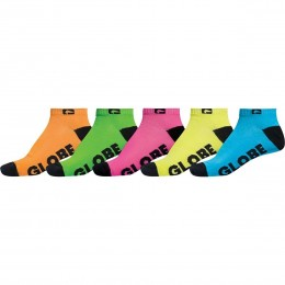 Globe Neon ankle 5 pack 2020 calcetines
