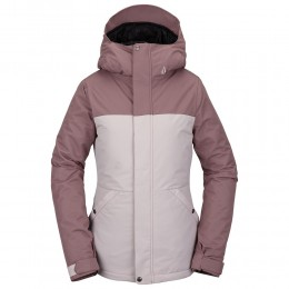Volcom Bolt Ins faded pink 2021 chaqueta de snowboard de mujer