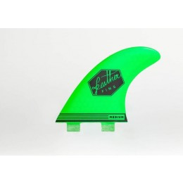 Feather Fins Ultralight Dual Tab green Quillas Surf