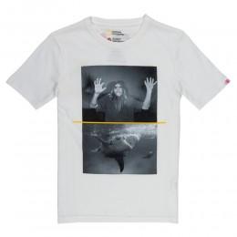 Element Shark Fletcher white 2020 camiseta