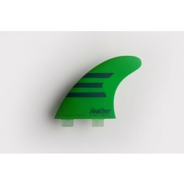Feather Fins Ultralight Epoxy Dual Tab green Quillas Surf