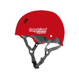 Long Island Double Certified red Casco de skateboard