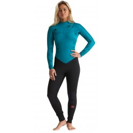 Billabong Furnace Synergy Chest Zip GBS 3/2mm mermaid black traje de neopreno de mujer