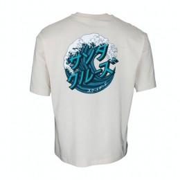 Santa Cruz Japanese Wave Dot off white 2022 camiseta
