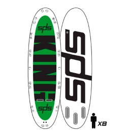 "SPS Hinchable King 18´ x 59´ x 8"" pack completo paddle surf"