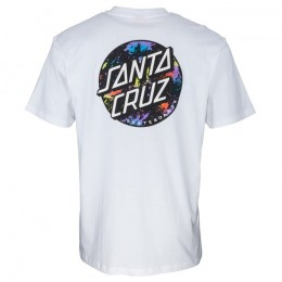 Santa Cruz Dot Splatter white 2021 camiseta
