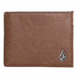 volcom slim stone marrón 2017 cartera