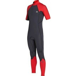 Billabong Absolute Back Zip 202 FL SS red traje de neopreno