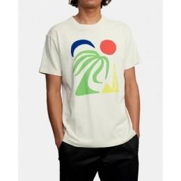 Rvca Bailey Elder Oasis silver bleach 2021 camiseta