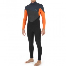 Rip Curl Omega 3/2 mm back zip orange 2020 traje de neopreno
