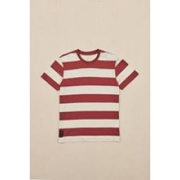 Globe Dion Agius Striped oxblood 2021 camiseta