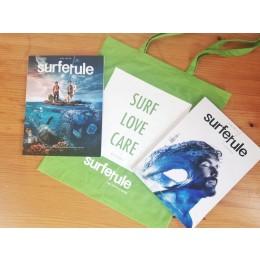 Bolsa tela Surfer Rule verde o azul + Revista Surfer Rule nº 149 + nº 150