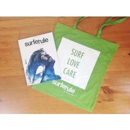 Bolsa tela Surfer Rule verde o azul + Revista Surfer Rule nº 149