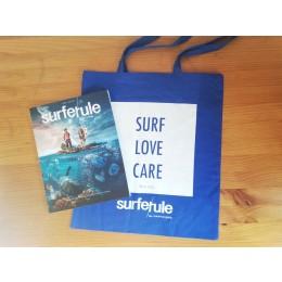 Bolsa tela Surfer Rule verde o azul + Revista Surfer Rule nº 150