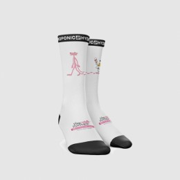 Hydroponic Pink Panther paint white 2021 calcetines