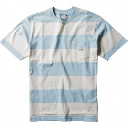Vissla Creators Block stripe eco pocket cool blue 2021 camiseta