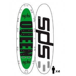 "SPS Hinchable Queen 14´ x 58´ x 8"" pack completo paddle surf"