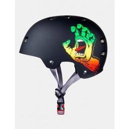 Bullet Santa Cruz Screaming Hand rasta casco skateboard