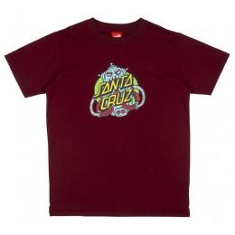 Santa Cruz Robo Dot wine 2021 camiseta de niño
