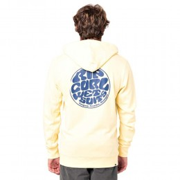 Rip Curl Os Hooded Pop overprint pale yellow 2021 sudadera