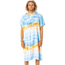 Rip Curl Mix up print hooded towel blue white poncho