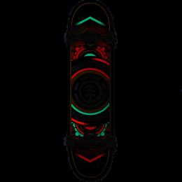 """Element Hatched north light 8"""" Skateboard completo"""