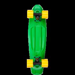 "D Street Polyprop Cruiser 23"" 3DR GEN green/yellow longboard completo"