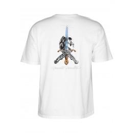 Powel Peralta Skull and Sword white 2020 camiseta