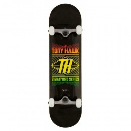 """Tony Hawk 180 Stacked Logo 8"""" black skateboard completo"""