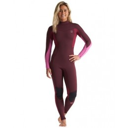 Billabong Synergy maroon 3/2 back zip 2020 neopreno de mujer
