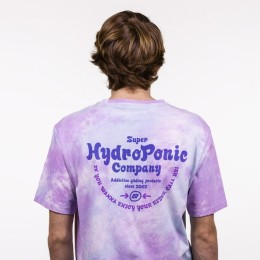 Hydroponic Super Company tie dye blue violet 2021 camiseta