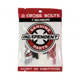 Independent Genuine parts Phillips 1'' Black red Tornillos de Skate