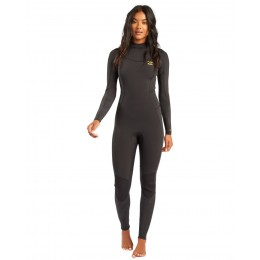 Billabong Synergy Back Zip 3/2mm black tropic traje de neopreno de mujer