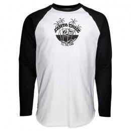 Santa Cruz Horizon baseball black white 2021 camiseta de manga larga