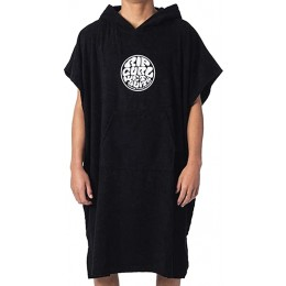 Rip Curl Wet us hooded towel black poncho