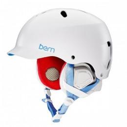 bern lenox blanco 2017 casco de snowboard de mujer