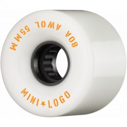 Mini logo AWOL 55mm 80A white Ruedas de skateboard