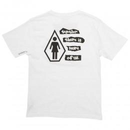 Volcom Yeah Volcom X Girl Skateboards white 2021 camiseta de niño