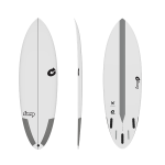 "TORQ 5'8"" Multiplier Tec  WHITE Tabla de surf"