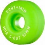 Mini logo A cut 53mm 101A Green Ruedas de skateboard