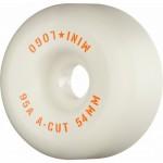 Mini logo A cut 54mm 95A white Ruedas de skateboard