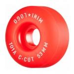 Mini logo C Cut 53mm 101 red Ruedas de skateboard